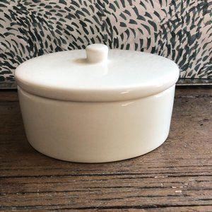 Pottery Barn Teen Oval Trinket Soap Dish Box Lid